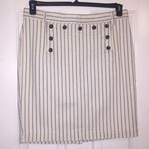 Ralph Lauren denim pinstriped skirt